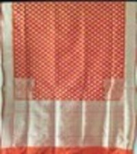 Rust Silk R. Zari Buti Saree