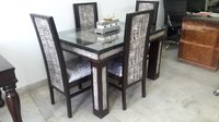 Silver Wooden Dining Set