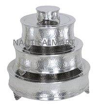 Aluminum Round Cake Stand Set Of 4