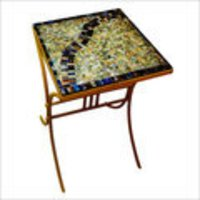 Mosaic Top Square Side Table
