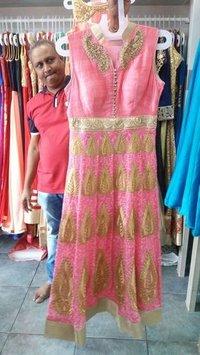 Silk with Net Ladies Chudidar Dress