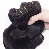 Natural Virgin Black Human Hair Extension
