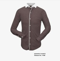 Brown Mens Shirt With White Strip