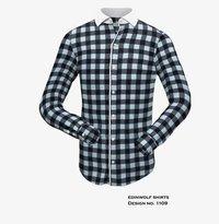 Blue Black Check Mens Shirt
