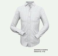 White Base Mens Strip Shirt
