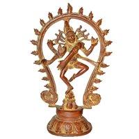 Brass Lord Shiva (Natraj) In Dancing Position Statue