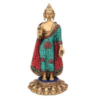 Lord Buddha Standing Statue With Stone Finish