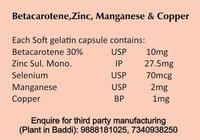 Betacarotene Zinc Selenium Softgel Capsules