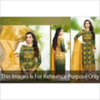Unstitched Digital Print Salwar Suit With Embroidery