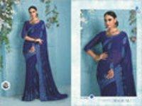Net and Velvet Designer Saree