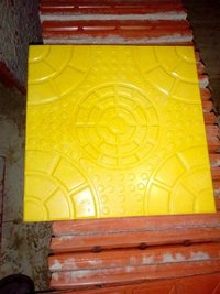 Yellow Square Design Parking Tiles