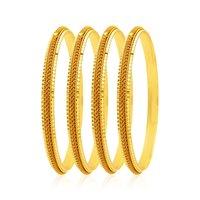 Jewels Galaxy Designer Gold Plated Bangles Set Of 4