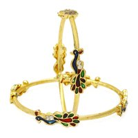 Jewels Galaxy Mayur Designer Gold Plated Bangles