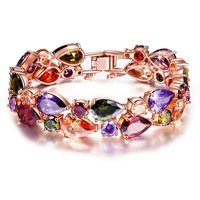 Vine AAA Swiss Cubic Zirconia Gold Plated Sparkling Bangles