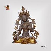 Brass Sitting Tara Statue
