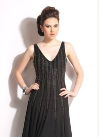 Ladies Comfort Rich Sleeveless Partywear Gown