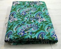 Cotton Voile Printed Fabric Hand Block Printed Fabric