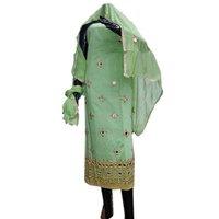 Chanderi Hand Work Semi Stitched Salwar Suit