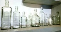 Clear Liquor Glass Bottles