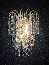 Golden Frame Crystal Wall Light