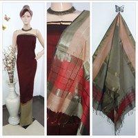 Ladies Handloom Silk Cotton Suit