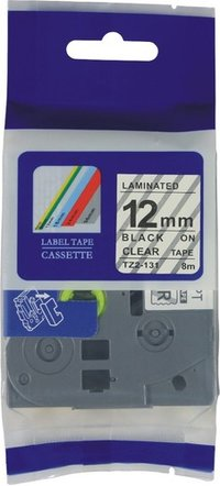12mm Compatible Laminated Label Printer Tape Tz-131