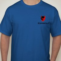 Printed Cotton Round Neck Blue T Shirts