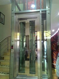 Glass Door With Stainless Steel Frame Lift