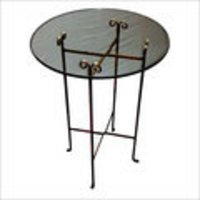 Robust Design Clear Glass Folding Round Table