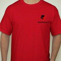 EDTR11118 Cotton Round Neck Red T Shirts
