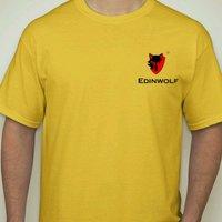 EDTR1113 Cotton Round Neck Yellow T Shirts