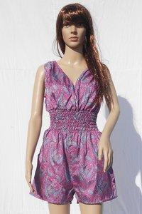 Ladies Vintage Silk Saree Dress Jump Suit