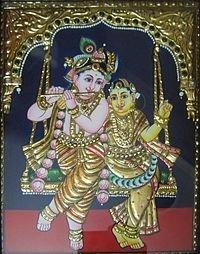 Thanjavur Radha Krishna Paintings