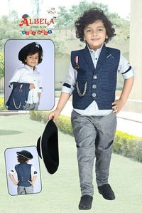 Boys Party Wear Set With Shoes and Hat