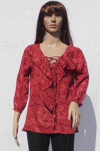 Ladies Red Silk Top