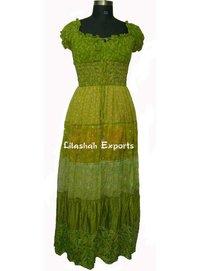 Ladies Vintage Saree Long Maxi Dress