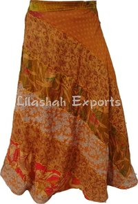 Ladies Vintage Silk Saree Skirts