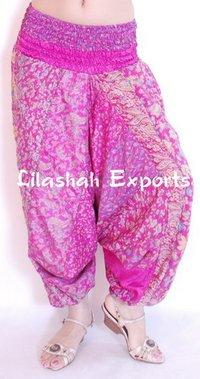 Ladies Vintage Silk Saree Trousers
