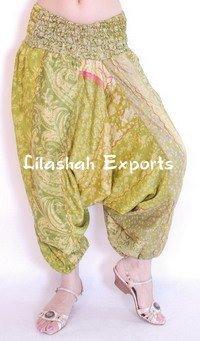Stylish Ladies Vintage Silk Trousers