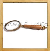Brass Magnifying Glass With Wood Handle