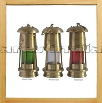 Antique Vintage Style Brass Nautical Miner Ship Lantern