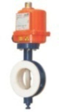 PTFE Lined Butterfly Actuated Valve