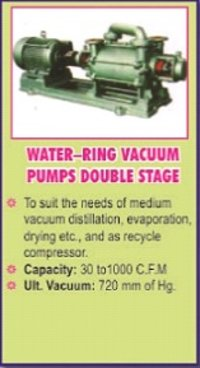 Water Ring Vacuum Pump Double Stage