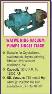 Water Ring Vacuum Pump Single Stage