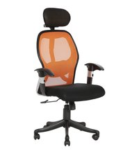 Orange And Black Gromalla Hb Executive Mesh Chair