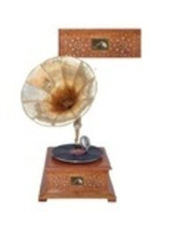 Wooden Gramophone Record Player in Rosewood