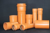 PVC U Pipes For Underground Drainage And Sewerage System
