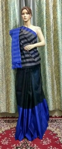 Black And Royal Blue Sarees