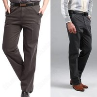 Mens Cotton Relaxed Legged Trousers