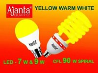 Ajanta Yellow Warm LED And CFL Bulbs